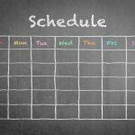 writing a restaurant schedule