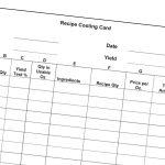 Recipe Costing Card