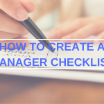 restaurant manager checklist