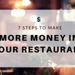 make more money in restaurant business