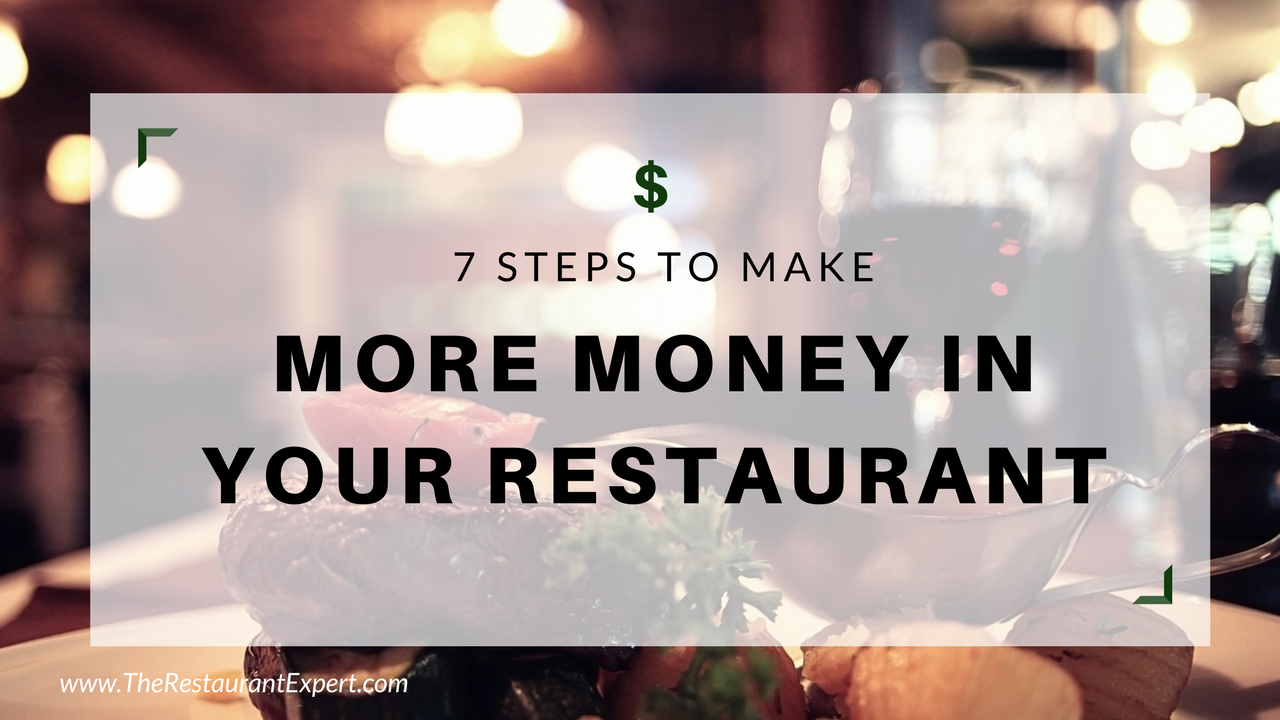 make more money in restaurant business