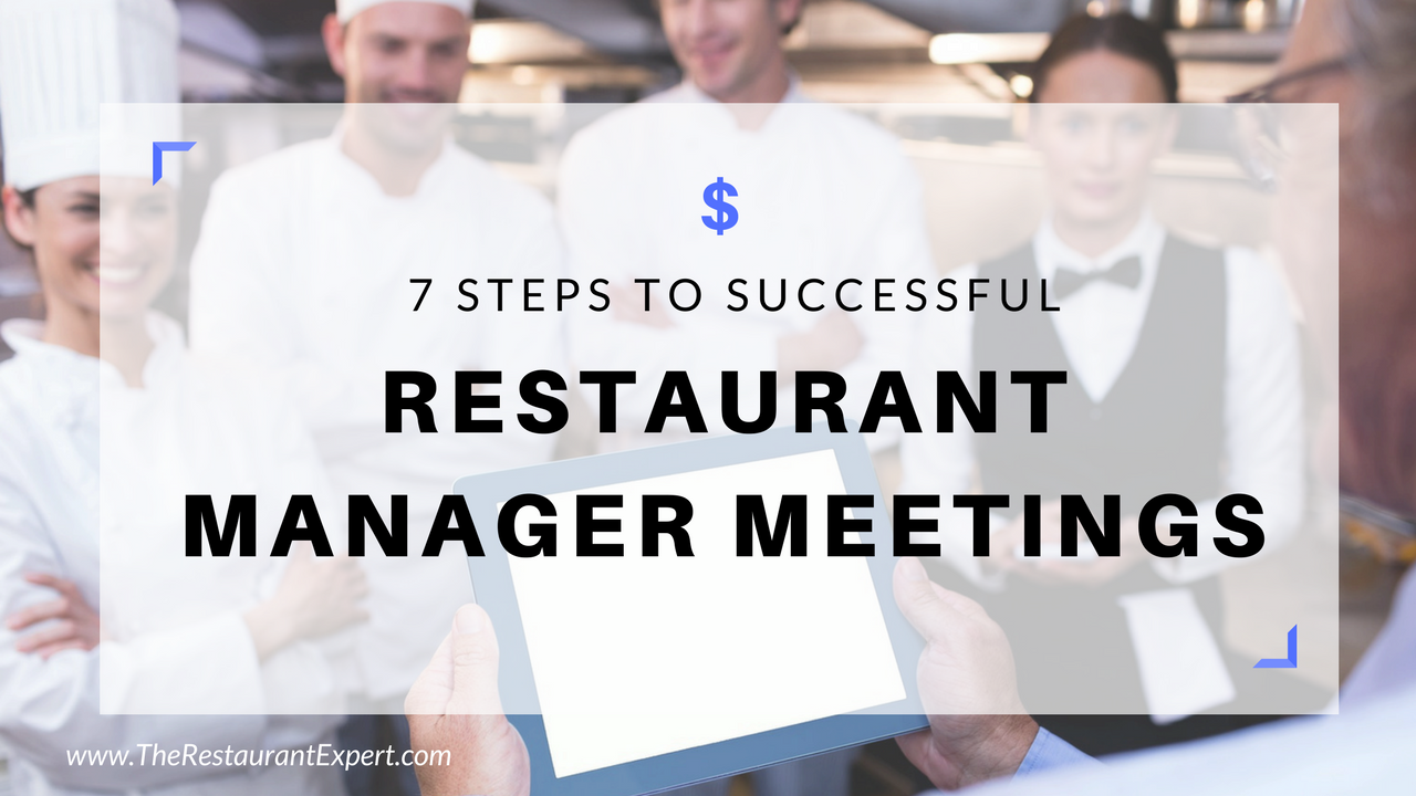 restaurant manager meetings
