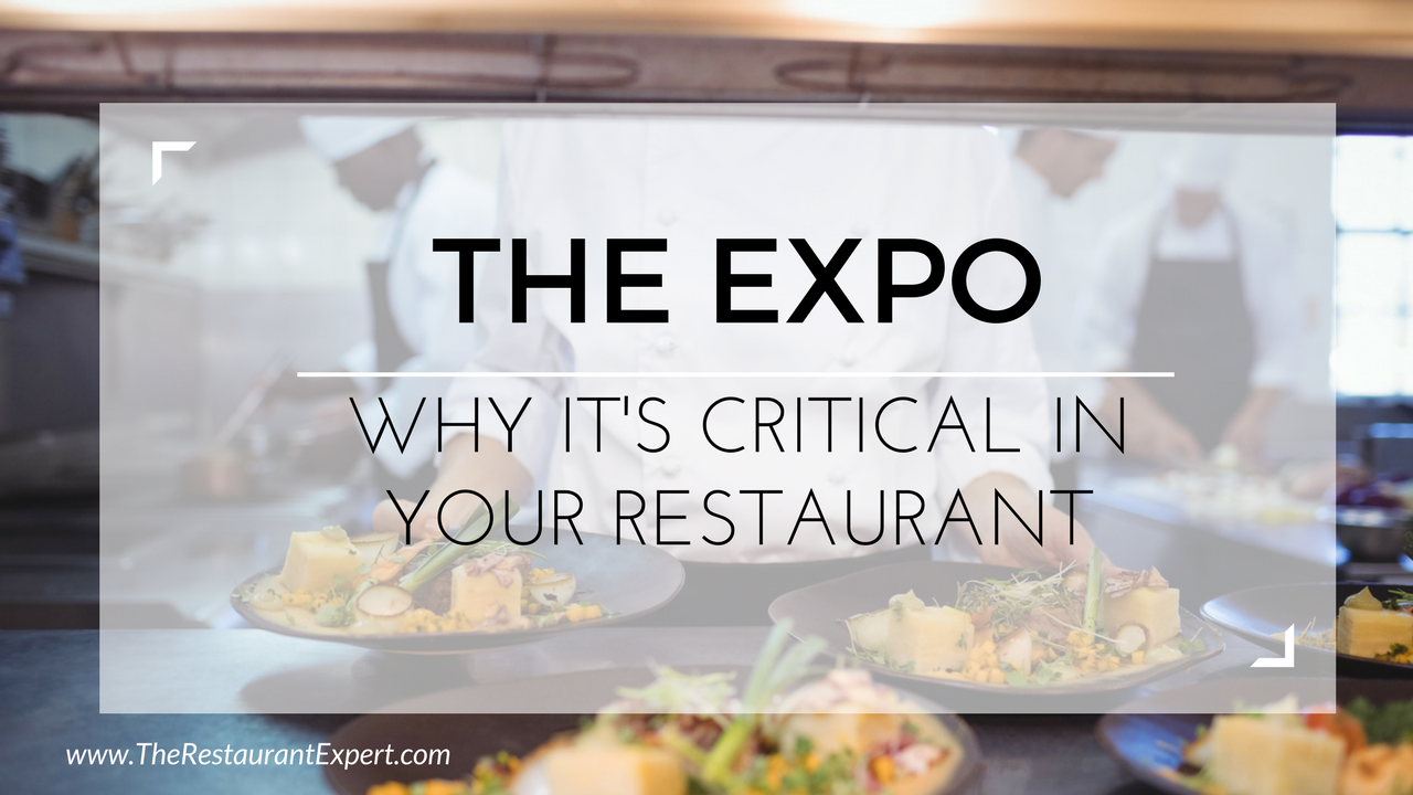 Expo Position in a Restaurant