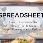 restaurant spreadsheets