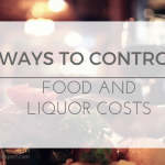 ways to control food and liquor costs