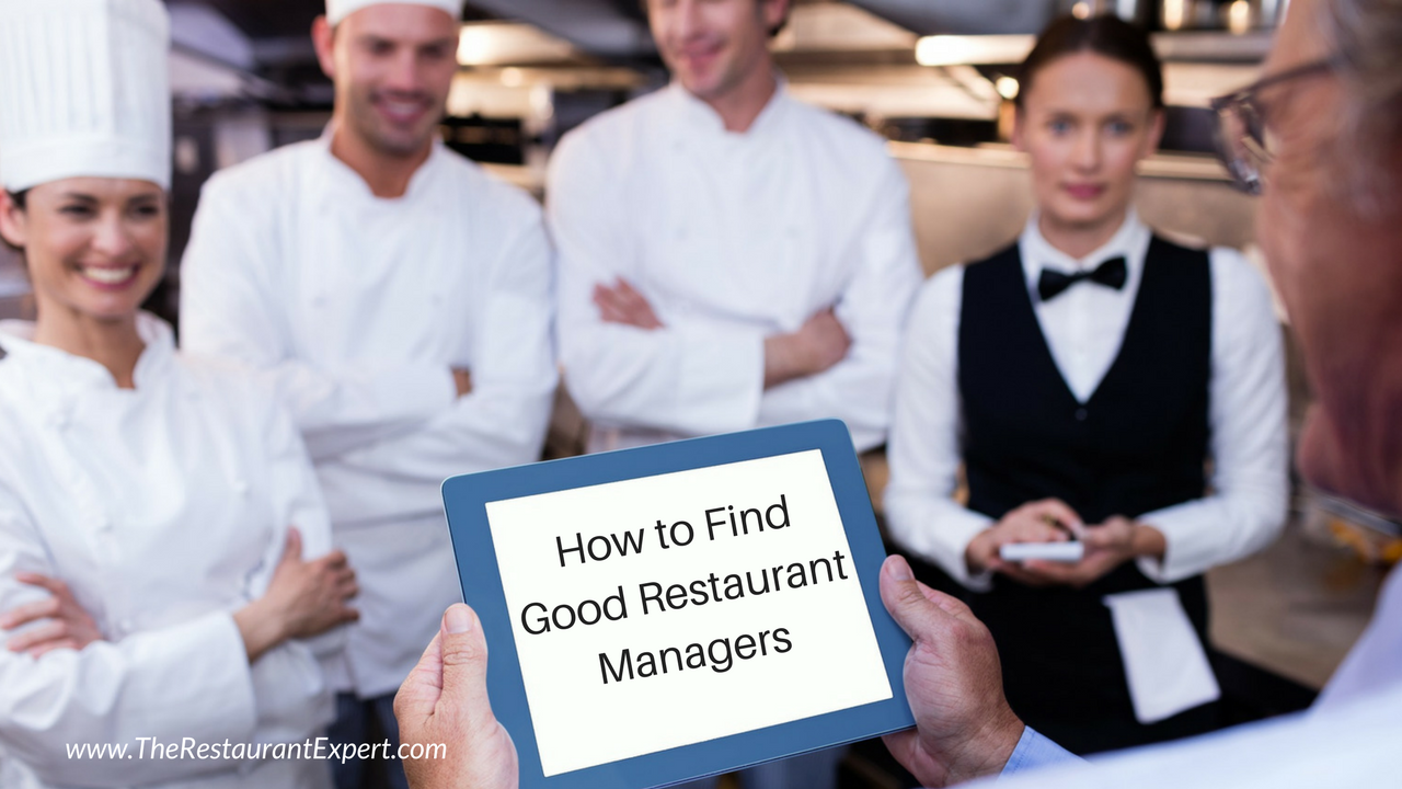find good restaurant managers